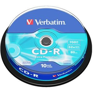 Verbatim CD-R DataLife Protection 52x, 10 db cakebox kép