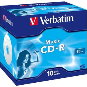 VERBATIM CD-R 80 MUSIC box 10 db/csomag kép