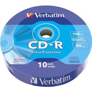 VERBATIM CD-R 80 52x WRAP EXTRA PROTECTION 10db/csomag kép