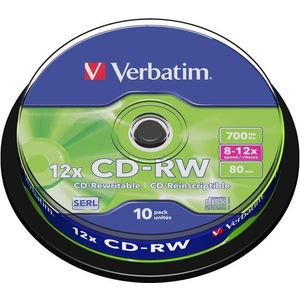 Verbatim CD-RW 10x, 10 db, cakebox kép