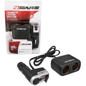 4CARS Kombinált autós töltő a szivargyújtóba 12/24V S USB kép