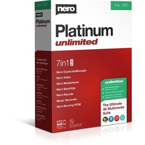 Nero Platinum Unlimited 7-in-1 CZ (elektronikus licenc) kép