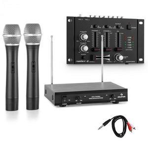 Electronic-Star Vezeték nélküli mikrofon szett 3-csatornás mixerrel, fekete kép