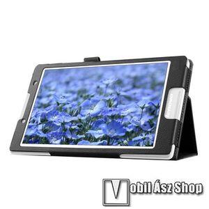 Notesz tok / mappa tok - asztali tartó funkciós, oldalra nyíló, rejtett mágneses záródás - FEKETE - Lenovo Tab 2 A8-50 kép