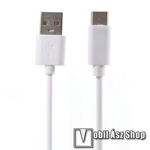 Adatátviteli kábel / USB töltő - USB 3.1 Type C - FEHÉR - 80cm kép