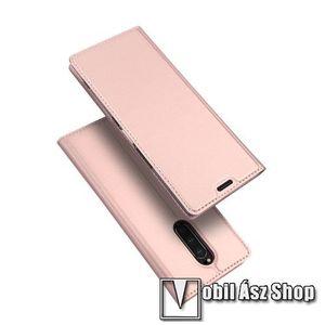 DUX DUCIS slim design notesz / mappa tok - ROSE GOLD - oldalra nyíló flip cover, asztali tartó funkció, szilikon belső, mágneses záródás - SONY Xperia 1 - GYÁRI kép