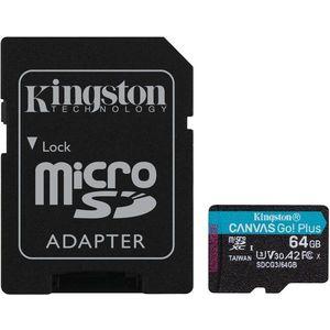 Kingston Canvas Go! Plus microSDXC 64GB + SD adapter kép