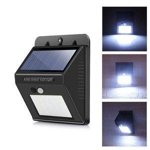 Napelemes mozgásérzékelős LED lámpa, 20 db LED kép