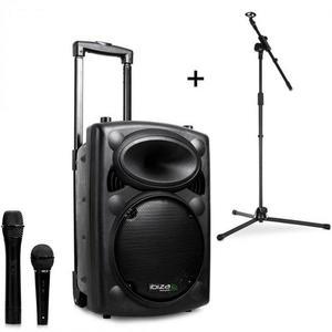 Ibiza Port8VHF-BT, mobil PA hangszóró, bluetooth, USB, SD, 200 W, RMS, mikrofonállvány kép
