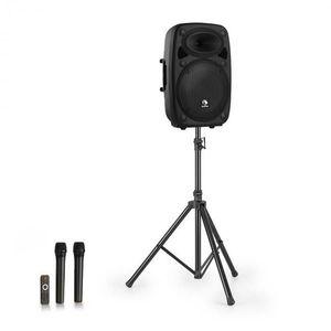 """Auna Streetstar 12, mobile PA rendszer + állvány, 12"""" mélynyomó, UHF mikrofon, 800 W, fekete kép"""