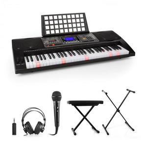 SCHUBERT Etude 450, gyakorló szintetizátor készlet, fejhallgató, mikrofon, állvány, zongoraszék, adapter kép