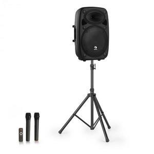 """Auna Streetstar 15, mobile PA rendszer + állvány, 15"""" mélynyomó, UHF mikrofon, 1000 W, fekete kép"""
