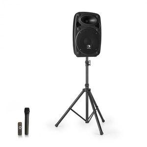 """Auna Streetstar 8, mobil PA rendszer + állvány, 8"""" mélynyomó, UHF mikrofon, 200 W, fekete kép"""