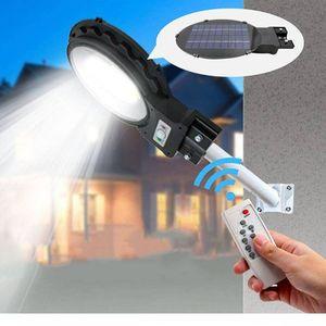 Napelemes LED utcai lámpa, mozgásérzékelővel, távirányítóval - 120 W kép