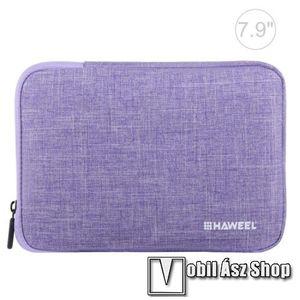 """HAWEEL Tablet / Laptop UNIVERZÁLIS tok / táska - LILA - Szövet, bársony belső, 2 különálló zsebbel, ütődésálló, vízálló - ERŐS VÉDELEM! - 7, 9""""-os készülékekig használható, 210 x 145 x 20 mm kép"""