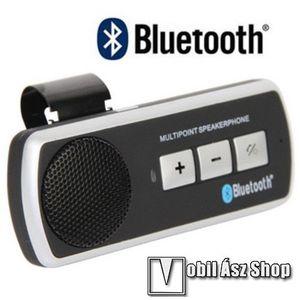BLUETOOTH kihangosító szett - napellenzőre rögzíthető, hordozható, Bluetooth 2.1 + EDR, multipoint, SUPERTOOTH-hoz hasonló - FEKETE kép