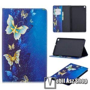 Notesz / mappa tok - PILLANGÓ MINTÁS - oldalra nyíló flip cover, TRIFOLD asztali tartó funkció, szilikon belső - SAMSUNG SM-T295 Galaxy Tab A 8.0 LTE (2019) / SAMSUNG SM-T290 Galaxy Tab A 8.0 Wi-Fi (2019) kép