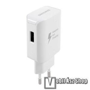 SAMSUNG hálózati töltő - USB aljzattal, 5V / 2100 mA, 25W, KÁBEL NÉLKÜL!, gyorstöltés támogatás - FEHÉR - EP-TA300 - GYÁRI kép
