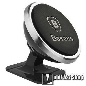 BASEUS Magnetic autós / gépkocsi tartó - mágneses, 360°-ban elforgatható, műszerfalra ragasztható - EZÜST - 35 x 40 x 35mm - GYÁRI kép
