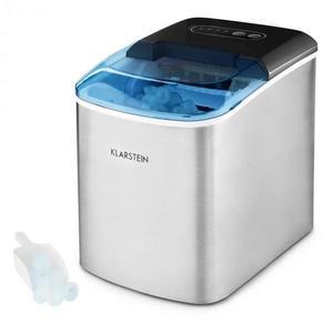 Klarstein On-The-Rocks jégkészítő gép LED | 12 kg / 24 óra | 2.1l | nemesacél, fekete kép