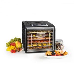 Klarstein Fruit Jerky Plus 6 gyümölcsszárító gép, időzítő, 6 polc, fémlemez, 420-500 W, fekete kép