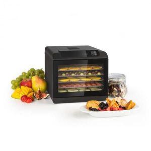 Klarstein Arizona Jerky, gyümölcsszárító, 500 W, 35 - 70 °C, digitális érintésvezérelt kijelző, fekete kép