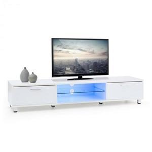 OneConcept Keira Lowboard, TV asztal, fehér, LED világítás, színváltoztatás kép