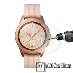 HAT PRINCE okosóra előlap védő karcálló edzett üveg - 1db - 0.2mm, 9H, A képernyő sík részét védi - SAMSUNG SM-R810NZ Galaxy Watch 42mm kép