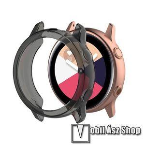 Okosóra szilikontok - ÁTTETSZŐ FEKETE - SAMSUNG SM-R500 Galaxy Watch Active kép