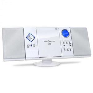 OneConcept V-12, fehér, sztereó rendszer CD-MP3-lejátszóval, USB, SD, AUX kép