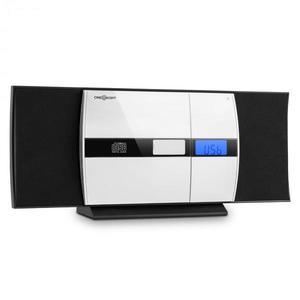 OneConcept V-15 sztereó rendszer, CD, USB, MP3, FM, AUX, ébresztőóra, fekete kép