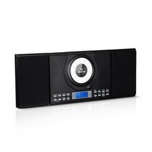 Auna Wallie, mikro zenei rendszer, CD lejátszó, bluetooth, USB port, távirányító, fekete kép