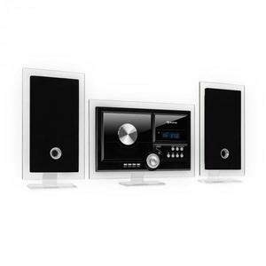 Auna Stereo Sonic, DAB+ sztereó rendszer, DAB+, CD lejátszó, USB, BT, fekete kép