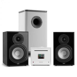 Numan Unison Reference 802 Edition, sztereó rendszer, erősítő, hangszórók, fekete/fehér kép