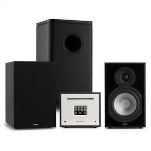 Numan Unison Reference 802 Edition, sztereó rendszer, erősítő, UniSub, hangszórók, fekete kép