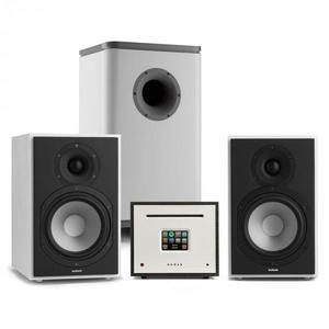 Numan Unison Reference 802 Edition, sztereó rendszer, erősítő, hangszórók, fehér/szürke/fekete kép