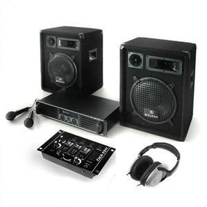 """Electronic-Star PA rendszer """"Bass Boomer"""", erősítő szett, hangszórók és mik kép"""