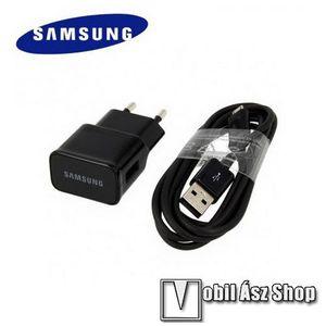SAMSUNG EP-TA12EBEUG hálózati töltő - USB aljzat, ECB-DU4EBE kábel, 5V / 2000 mAh - FEKETE - GYÁRI kép