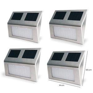 4 db falra szerelhető kültéri napelemes lámpa kép