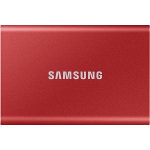 Samsung Portable SSD T7 500GB - piros kép