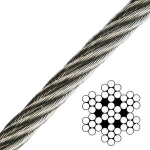 Talamex Wire Rope Stainless Steel AISI316 7x7 - 3 mm kép