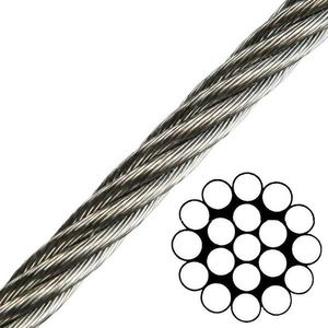 Talamex Wire Rope Stainless Steel AISI316 1x19 - 3 mm kép