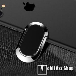 Fém ujjtámasz, gyűrű tartó - Biztos fogás készülékéhez - FEKETE kép
