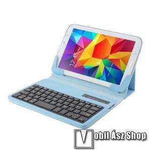 """UNIVERZÁLIS tablet PC flip / mappa bőrtok - 7""""-os készülékekhez, bluetooth billentyűzet, ANGOL KIOSZTÁS! - VILÁGOSKÉK kép"""