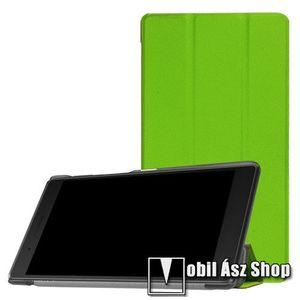 Notesz / mappa tok - ZÖLD - oldalra nyíló flip cover, TRIFOLD asztali tartó funkciós, mágneses záródás - Lenovo Tab 7 Essential (2017) / Lenovo Tab 4 7 (TB-7304F) kép
