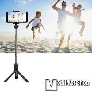 HUAWEI HONOR AF15 tripod állvány és teleszkópos Selfie bot - FEKETE - Beépített Bluetooth kioldóval, 360 fokban forgatható bölcső, 56-85mm-ig állítható, max. 66cm hosszú nyél - GYÁRI kép