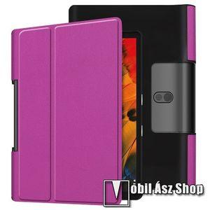 Notesz / mappa tok - oldalra nyíló flip cover, asztali tartó funkciós, rejtett mágneses - LILA - Lenovo Yoga Smart Tab 10.1 (YT-X705) kép