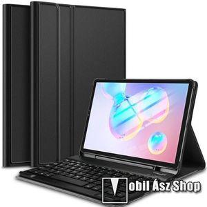 Notesz / mappa tok - FEKETE - oldalra nyíló, mágneses záródás, asztali tartó funkció, kivehető bluetooth billentyűzet (ANGOL KIOSZTÁSÚ!) - SAMSUNG SM-T860 Galaxy Tab S6 (Wi-Fi) / SAMSUNG SM-T865 Galaxy Tab S6 (LTE) kép