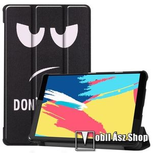 Notesz / mappa tok - oldalra nyíló flip cover, TRIFOLD asztali tartó funkció, mágneses záródás, műanyag belső - Do Not Touch Me MINTÁS - Lenovo Tab M8 (FHD) / Lenovo Tab M8 (HD) (TB-8505) kép