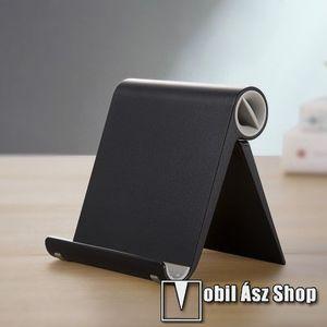UNIVERZÁLIS asztali telefon tartó, állvány - állítható szög, összecsukható, összecsukott méret 102 x 87 x 25 mm - FEKETE kép